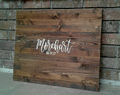 Sale!!! Alternative Guest Book // Wood Guest Board // Wedding Sign In // Custom Name and Date Sign // Personalized Hanging Guest Book