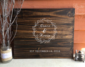Guest Book Alternative // Wedding Guest Book Sign Wood// Rustic Wedding Guestbook // Winter Wedding // Guestbook // 20x24