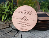 Save The Date Magnet, Wood Save The Date, Custom Wood Save The Date, Personalized Save The Date, Save The Date MAGWOODMARCUSABIGAIL