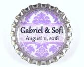 Custom Favors, Save the Date, Wedding Magnets, Wedding Keepsake, Save Date Magnet, Personalized Favors, Bottle Cap Magnet, Party Favors
