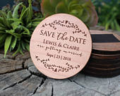 Save The Date Magnet, Wood Save The Date, Custom Wood Save The Date, Personalized Save The Date, Wood Save The Date MAGWOODLEWISCLAIRE