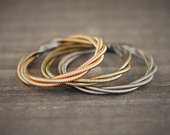 Guitar String Ring, Stacking Ring, Stackable Ring, Guitar String Jewelry, Silver Ring, Wedding Ring, Guitar Gifts, Promise Ring, Purity Ring