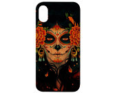 Day of the Dead iPhone 11 Pro Max iPhone X XR XS Max iPhone 8 Plus Samsung Galaxy S10 Plus Note 10 Plus Real Natural Wood Phone Case