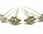 CraftbuddyUSCP9 10 pieces 22X15mm Diamante Almond Crystal Hand Crafted Wedding Hair Pins