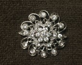 Rhinestone Brooch Crystal Rhinestone Pin 06 (Medium)