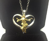 18k Yellow Gold Filled Jesus Christ Heart Necklace