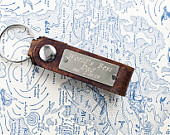 Personalized Leather Key Chain Accessory, Anniversary Gift, Custom Keychain, Wedding Gift, Worlds Best Dad Custom Leather Keychain