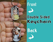Dad Key Chain Personalized Picture Gift 2 sided photo keychain, double sided keychain, fathers day keychain, fathers day key chain, dad
