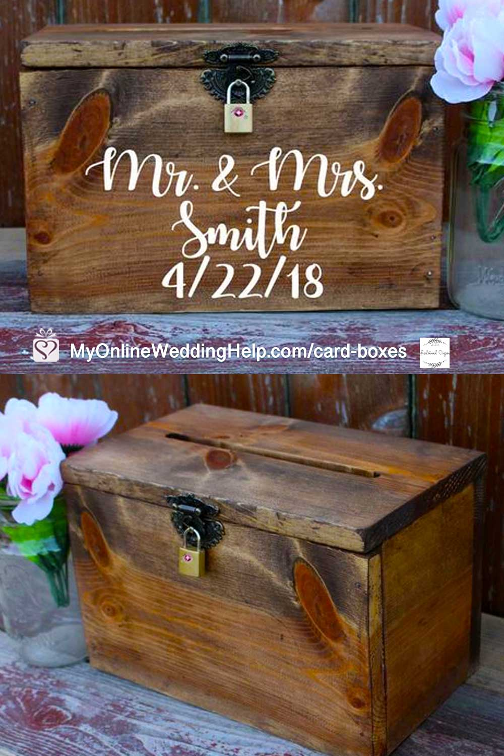 Wooden Wedding Card Holder Box