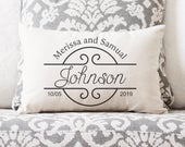 Engagement Gift Wedding Gift Gift for Bride Wedding Gifts Wedding Gifts for Couple Personalized Pillow Personalized Wedding Gift