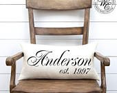 Wedding Gift, Wedding Gifts, Personalized Pillow, Newlywed Gift, Engagement Gift, Rustic Wedding Gift, Burlap Pillow, Gift for bride