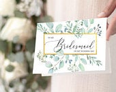Bridesmaid Maid of Honor Matron of Honor Proposal Card, Will you be my Bridesmaid, MOH Card, Bridal Party, Simple and Modern Wedding Day