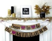 Bridal Shower Banner, Engagement Banner, Soon to Be Banner, Rustic Sign, Engagement Party, Wedding Reception, Couples Shower Decor Sign