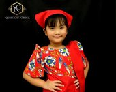 KIDS FILIPINIANA DRESS Floral Patadyong Philippine National Costume Maria Clara Baro at Saya Barong Tagalog Filipino Heritage Day Red