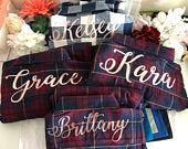 CUSTOM ORDER for Holly Button down Bridesmaid flannel shirts Burgundy, Matching Bridal party shirts