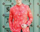 Chinese Wedding Groom Outfit Chinese Changshan Male Chinese Wedding Jacket Male Cheongsam