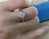 Marquise 2.00 Ct Diamond Solitaire Engagement Wedding Ring 14K White Gold Promise Ring Gift For Her Unique Ring Graduation Thanks Gift