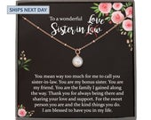 Sister in Law Necklace SisterinLaw Birthday Gift for Sister in Law Gift from Bride best sister in law ever