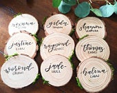 Rustic Wooden Slice / Coaster Place Holders