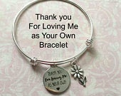 Thank you for loving me as your own bracelet, Step Mother Gift, Bonus Mom Mothers Day Gift,Thank you Gift for Bonus Mom, Step Family