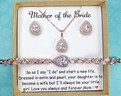Mother of the Bride gift Mother of the groom gift Mother in law gift jewelry mother of the bride bracelet Mother of the Bride earrings