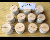Place card holders rustic wedding place card holders or table number holders