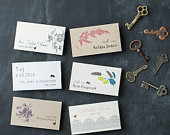 Wedding Place/Escort Cards With Customizable Wording, Paper, Fonts, Colors Styles (Rustic Chic, Vintage Modern, Traditional Elegant)