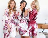 Bridesmaid Robes Bridesmaid GiftsBridal Gift Set Bridal Party RobeRobe Set of 56789 Floral Robe Wedding Robes Spring Floral Robe