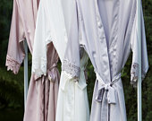 Bridesmaid Robes / Bridal Robes / Satin Dressing Gown / Bridesmaid Robe Set / Wedding Party Robes / Bride Robe / Bridesmaid Gifts
