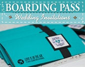 Boarding Pass Wedding Invitations Custom Destination Invites Handmade in Canada by www.empireinvites.ca