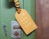 Bon Voyage Luggage Tags Wedding Favors Bridesmaid Gift or Bridal Shower cruise destination save the date