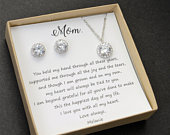 Mom gift set ,Custom Mother of the groom set, Mother of the bride set, Bridal jewelry set, Mothers gift, Mother in law,