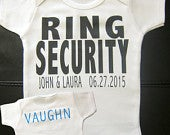 RING SECURITY ring bearer ring security shirt ring bearer shirt wedding party shirts custom clothing flower girl matching shirts