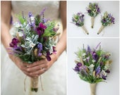 wildflower bouquet, bridal bouquet, wedding flowers, artificial wedding bouquet, wedding bouquet, bridesmaid bouquet, wedding bouquet set