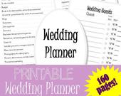 PRINTABLE wedding planner 2 160 pages! Wedding checklist, wedding to do list, wedding organizer