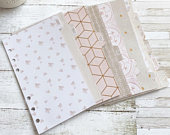 Rose Gold Foiled Monthly Tabbed Planner Dividers, Filofax Personal Dividers, Planner Dividers