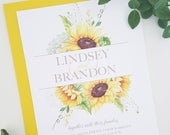 Rustic Wedding Invitation, Sunflower Wedding Invitation, Country Wedding Invitation, Country Wedding, Rustic Sunflower Wedding Invitation