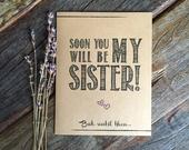Sister In Law Bridesmaid Proposal Sister In Law Card. Funny Bridesmaid Card. Ask Sister Card. Bridesmaid Proposal Gift Bridesmaid Sister