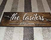 Personalized Wedding Gift, Custom Name Sign, 3D Last Name Wood Sign, Rustic Family Established Sign, Personalized Name Sign