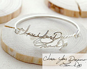 Handwriting Bangle Memorial Handwriting Signature Bracelet Personalized Handwriting Bangle GRANDMA GIFT Mothers Gift BH05