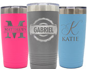 Stainless Steel Tumbler Personalized, Custom Travel Tumbler, To Go Coffee Mug, Laser Engraved Tumbler, Insulated Coffee Cup, Custom Tumbler