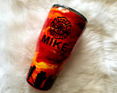 Firefighter Tumbler, Fireman Gift, Fire Cup, 30 oz Stainless Steel Tumbler, Insulated Coffee Mug, Double Walled Mug, Personalized Mug