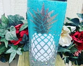 Pineapple Tumbler, Glitter Tumbler Personalized