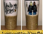 Youre my person best friends glitter 20 oz tumbler