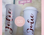 Starbucks Coffee Cup Lover Deal Custom Cold Starbucks Tumbler and Personalized Hot Starbucks Cup Deal.