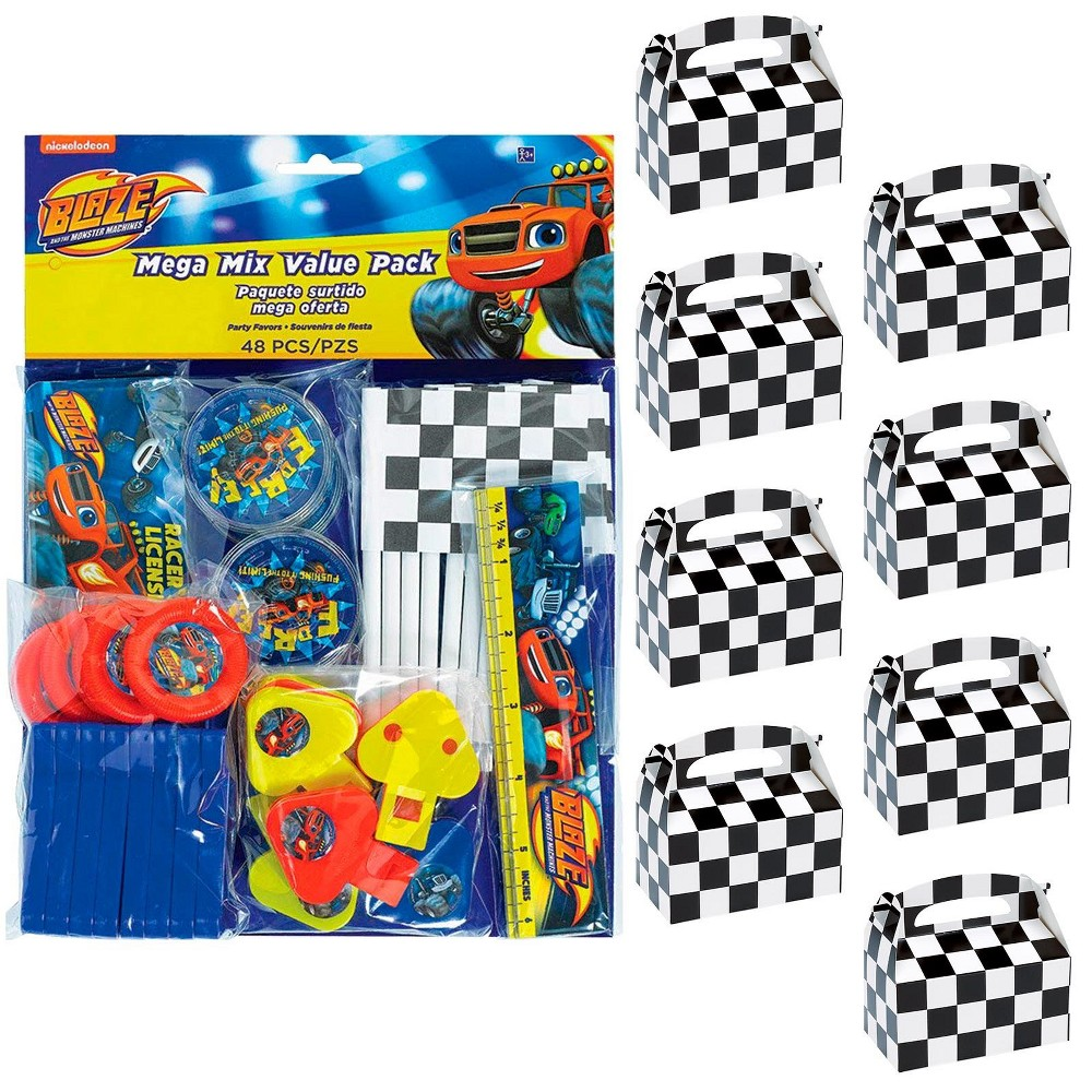 8ct Blaze and the Monster Machines Filled Favor Box Kit