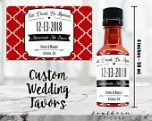 Custom Hot Sauce Wedding Favors Personalized Labels Empty 50 mL Bottles Keeping It Spicy Printed Stickers DIY Kit for Engagement Party