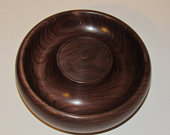 Hand made American walnut pedestal candle holder candy/nut dish