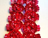 Red Christmas Tree Candle Holder Clips, 8 Clips