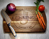 Personalized Cutting Board Great for a Wedding Gift, New Homeowners, Anniversary, or for Mom or Dad